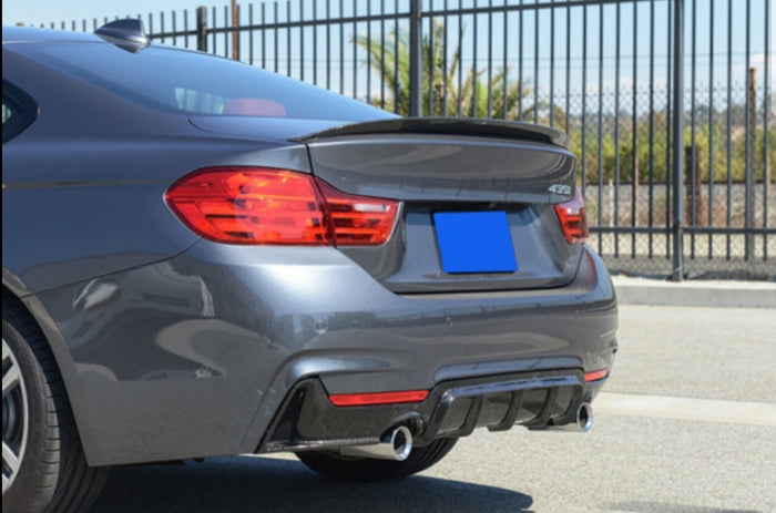 BMW F32 F33 F36 M Tech Rear Diffuser - Carbon Fiber