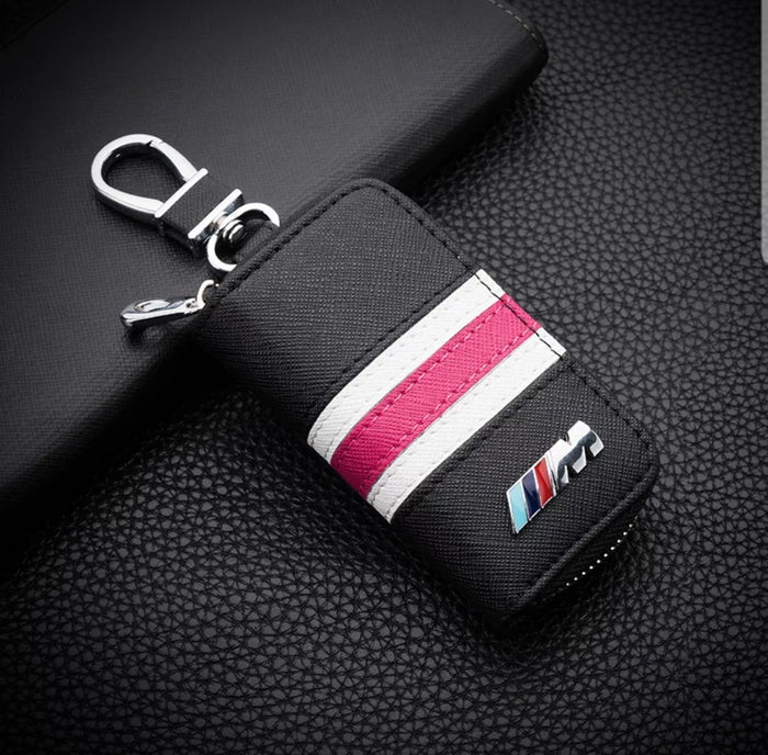 Leather BMW ///M Key Car Key Case Holder