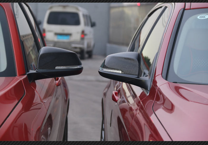 BMW F10 F18 5 Series LCI Replacement Mirror Caps - Carbon Fiber