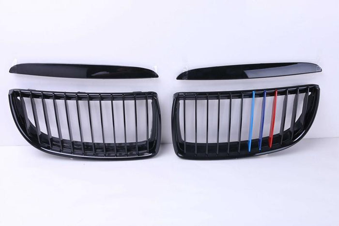BMW E90 3 Series PRE LCI Grilles - M Stripes