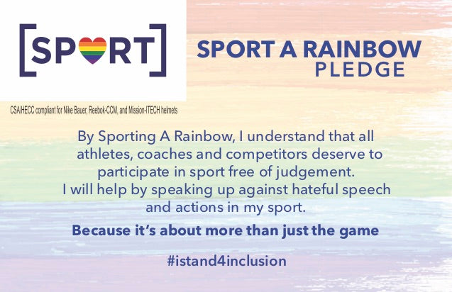 Sport A Rainbow Pledge with CSA Approved Helmet Sticker
