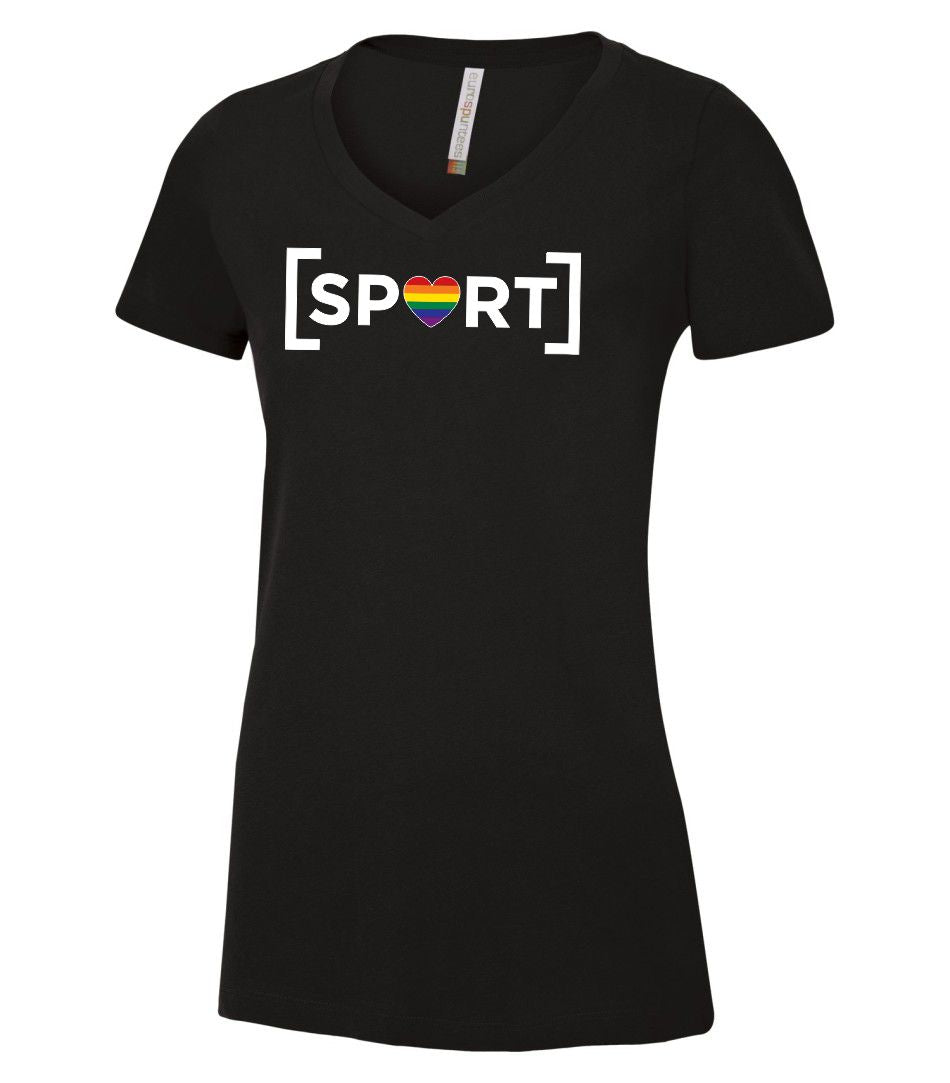 Ladies T-shirt Logo on front