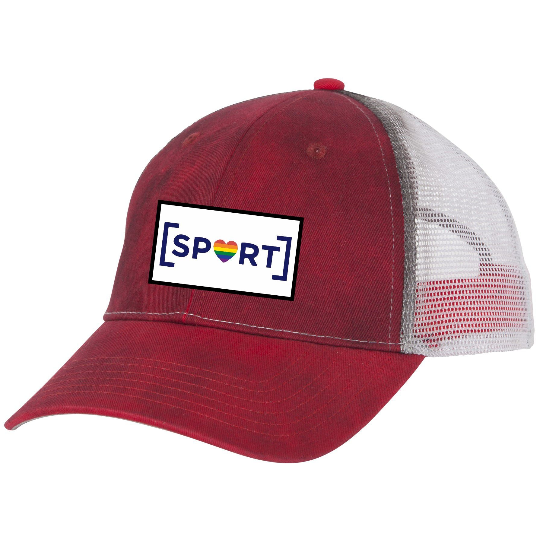 Distressed Trucker Hat (Red or Blue)