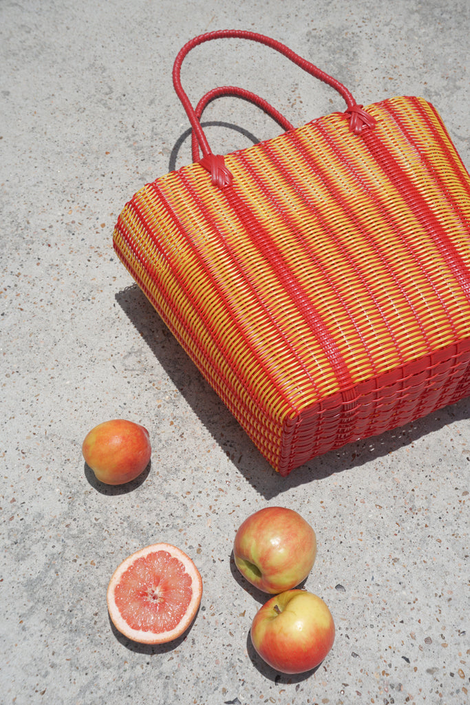 Large Market Bag in Mango - market bag - Layne Collective- Layne Collective