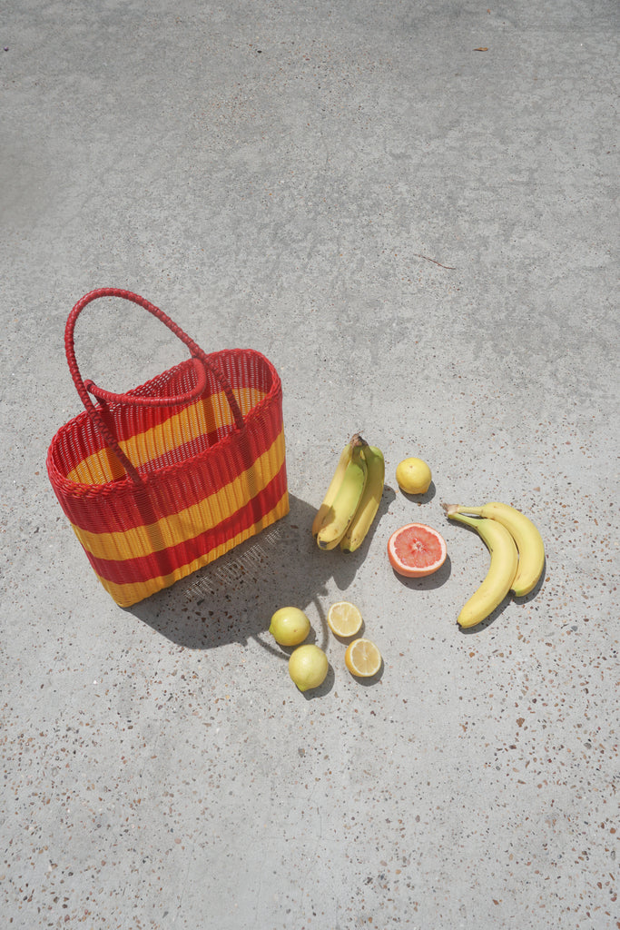 Medium Market Bag in Papaya - market bag - Layne Collective- Layne Collective