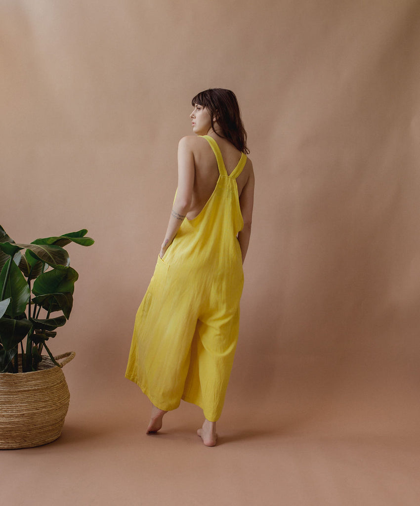 Tokyo Jumper in Sunshine - plant dyed - Layne Collective- Layne Collective