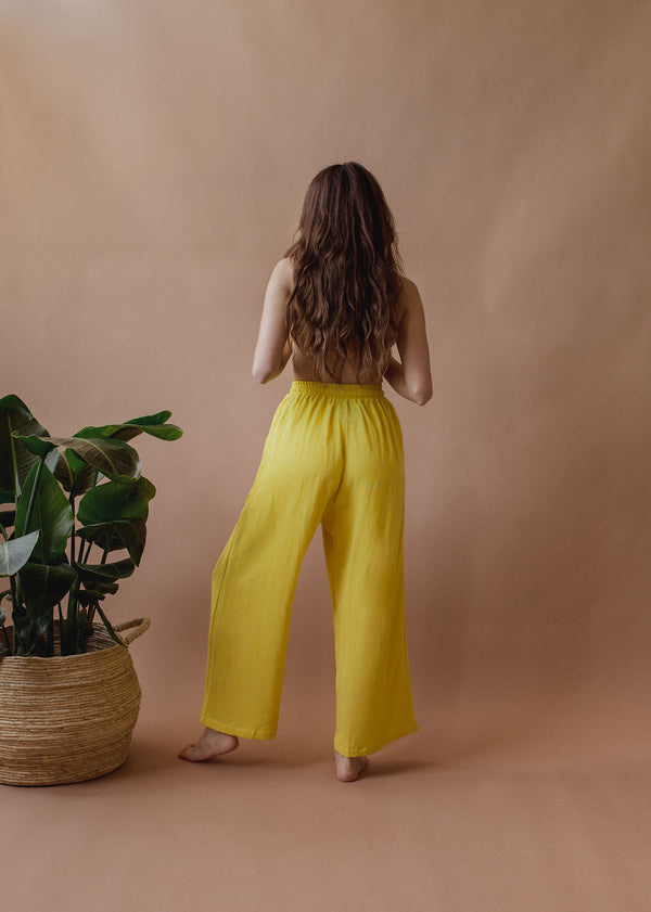 Sushi Pant in Sunshine - plant dyed - Layne Collective- Layne Collective