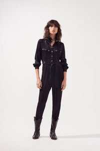 Suncoo - Twiggy Black jumpsuit