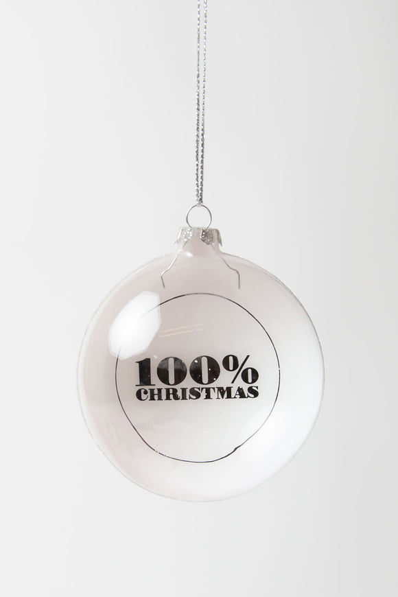 100% Christmas Bauble