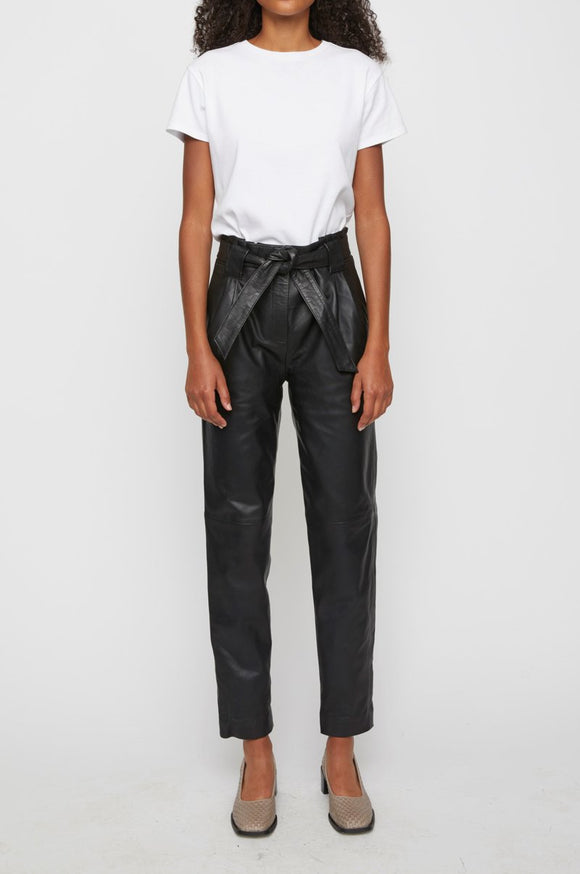 Just Female - Sago leather trousers