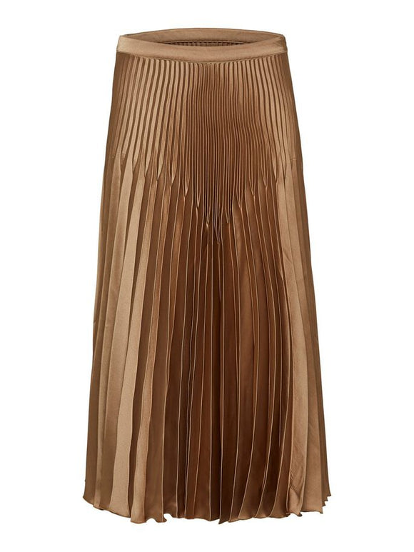 Selected Femme - Harmony Pleated Satin Midi Skirt
