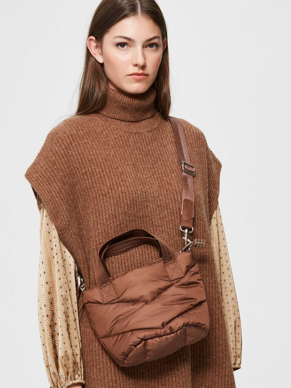 Selected Femme - Quilted Bag in Toffee