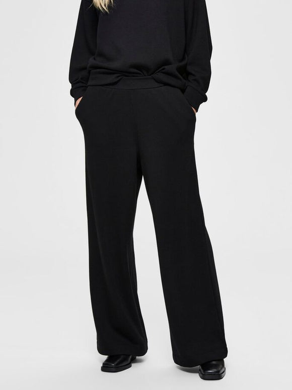 Selected Femme - Wide Leg Mid Waist Sweatpants