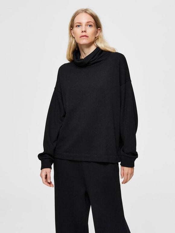 Selected Femme - Slouchy High Neck Sweatshirt