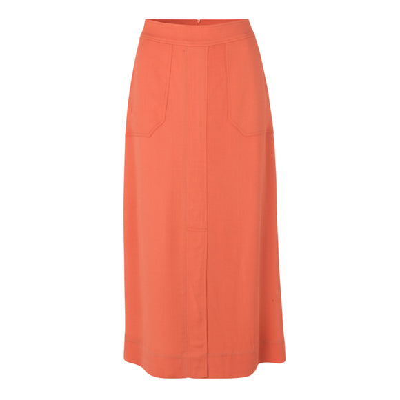 Second Female - Tegan Midi Skirt Apricot Brandy