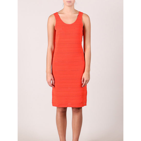Rino & Pelle Larka Ajour Knit Dress in Flame
