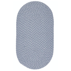 Small Eco Braided Oval Rug in Sky Blue Made From 100%  Recycled Plastic