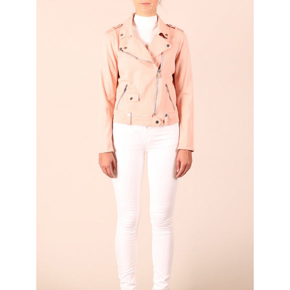 Rino & Pelle Zelena Cotton Jacket in Pastel Peach