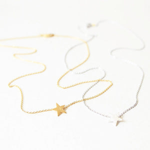 Tilley & Grace Lianna Star Necklace in Silver