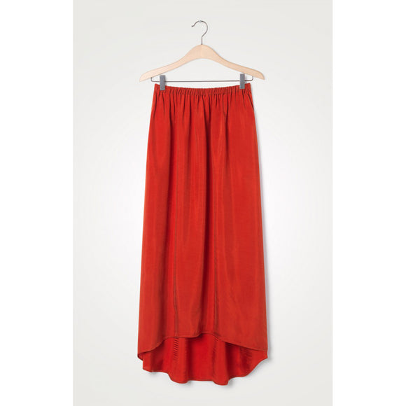 American Vintage Nonogarden High Waist Skirt in Blood Red