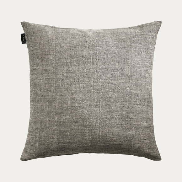 Linum - Village Cushion in Charcoal Grey