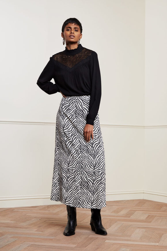 Fabienne Chapot - Laurie Skirt In Heart Lines