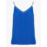Suncoo Lumidy Blue Embroidered Camisole Fluid Blouse