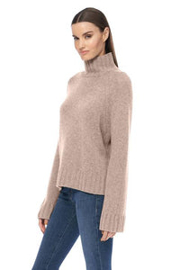 360 cashmere  - Leighton turtle neck in Adobe pink
