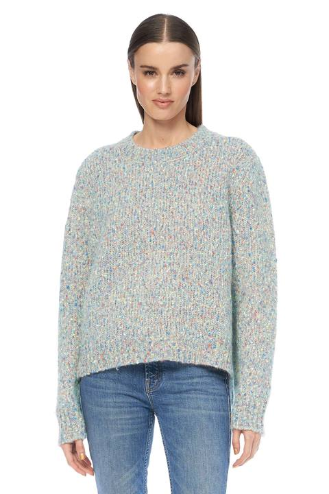 360 cashmere- Clarissa sweater - pale blue/multi