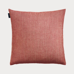 Linum - Village Cushion in Coral Red