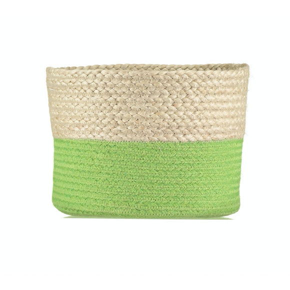 Medium Calypso Lime Jute Basket