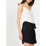 Suncoo Lumidy Off-White Embroidered Camisole Fluid Blouse