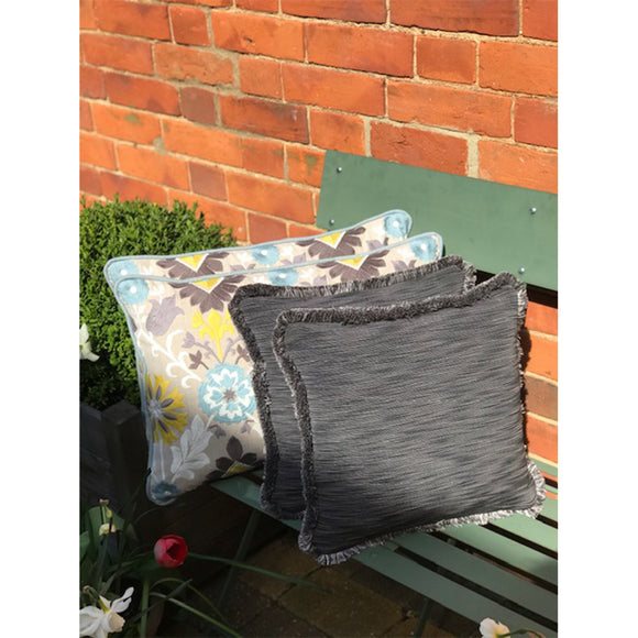 Simply Living Grey Fringed 35 x 35cm Cushion