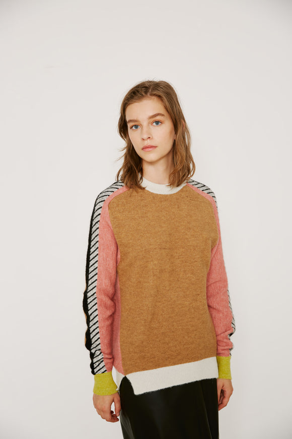 Sita Murt - Alpaca Wool Block Colour Sweater
