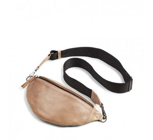 Markberg - Izzy Bum Bag in Camel with a Black Strap