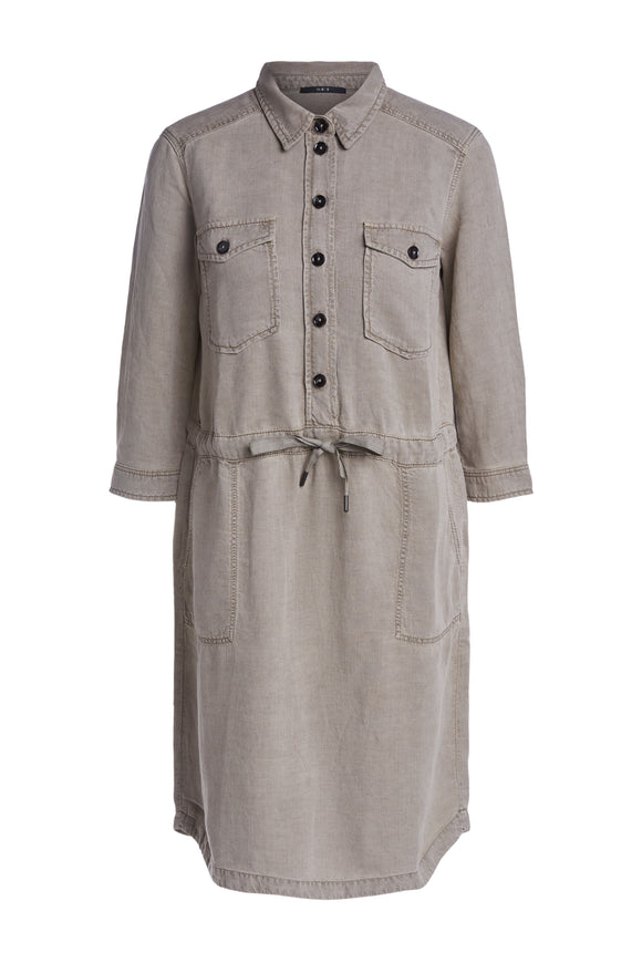 Set Fashion - Khaki Tunic Shirt Dress