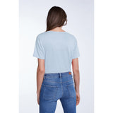 Set Fashion Baby Blue Basic T-Shirt