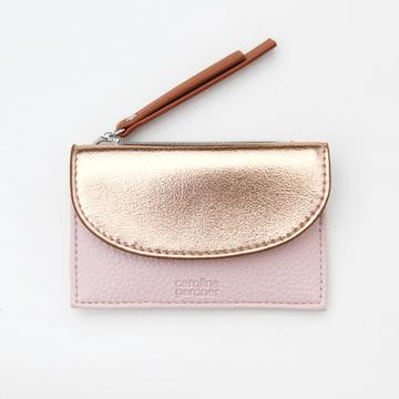 Caroline Gardner - Rose Gold and Pink Card Holder and Coin Purse