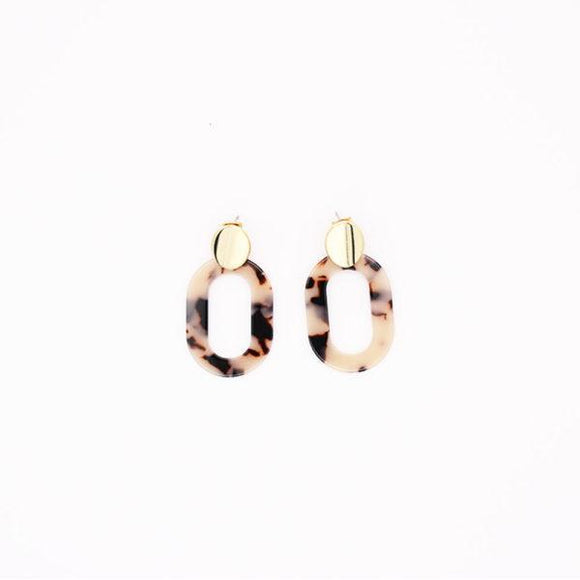 Tilley & Grace - Carrie Drop Earrings in Beige