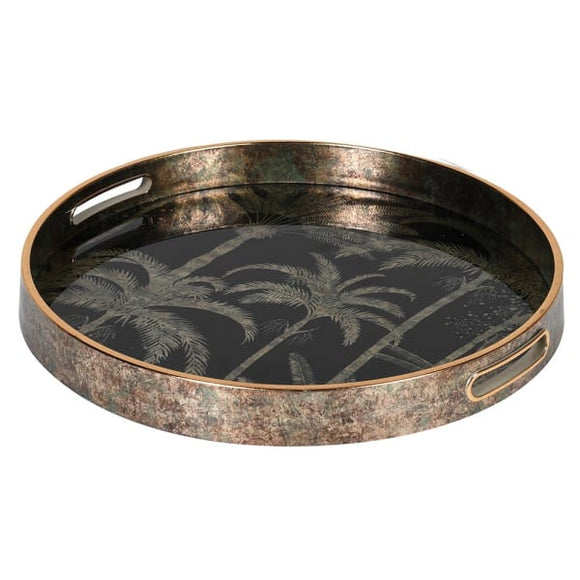 Coach House - Palm Tree Pattern Lacquer Tray