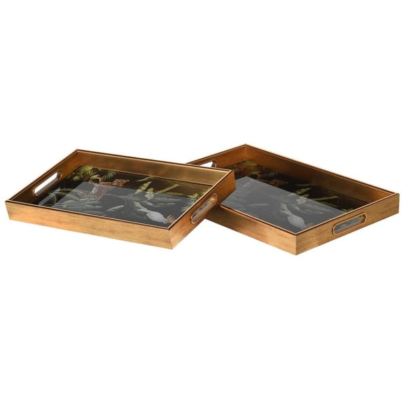 Coach House - Set of 2 Oblong Parrot Trays