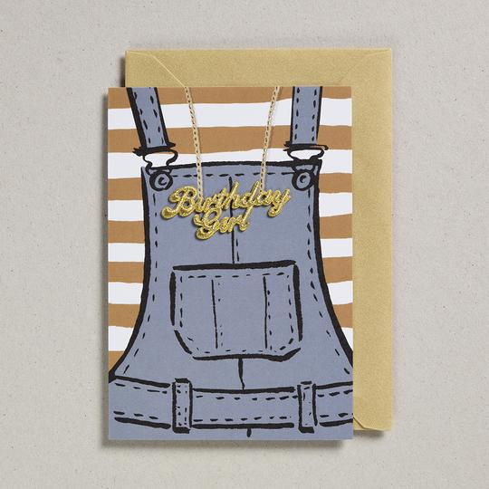 Petra Boase - Birthday Girl in Dungarees Card