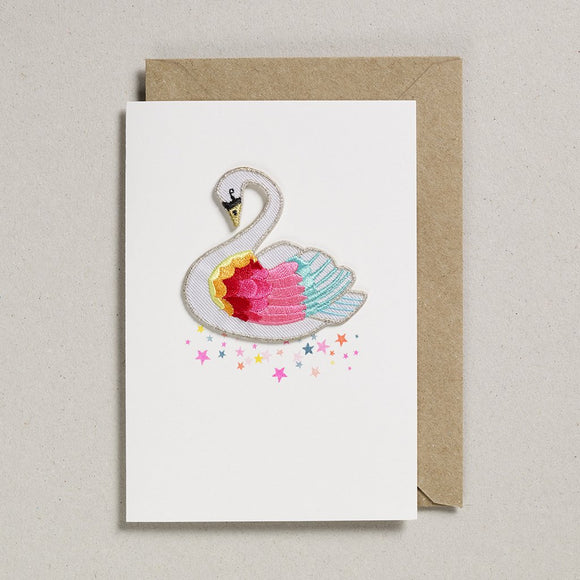 Petra Boase - Iron on Patch Swan Card