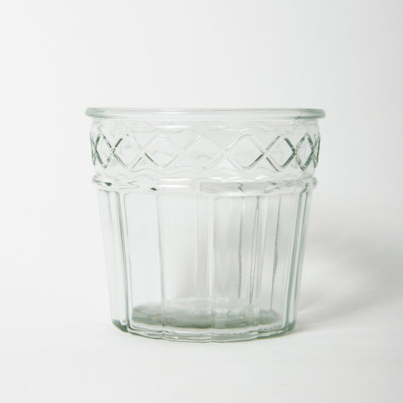 Grand Illusions - Vintage Glass Flower Pot Small Design 3