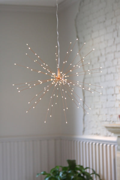Light Style London - 160 LED Hanging Starburst ornament in Copper
