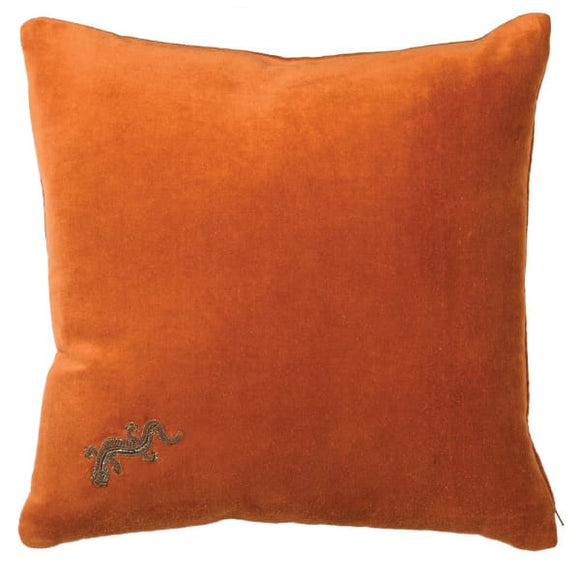 Coach House - Orange Gecko Cushion