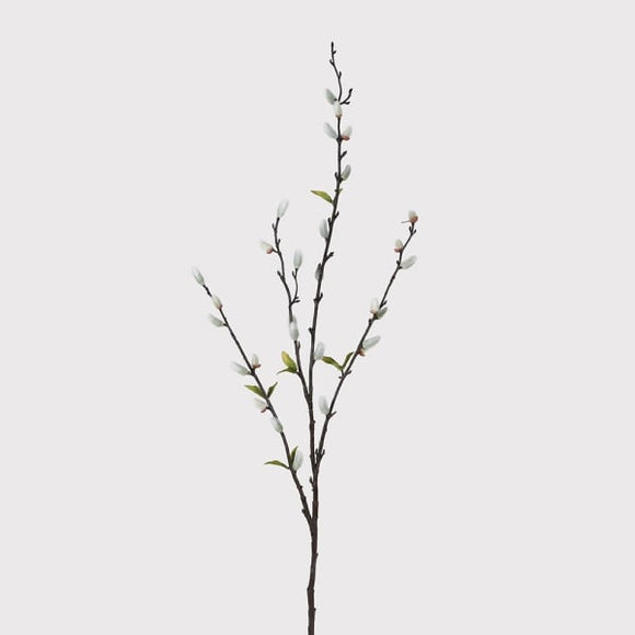 Coach House - Natural Pussywillow Stem with Leaves