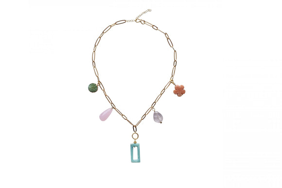 I Am Jai - Multi Stone Necklace