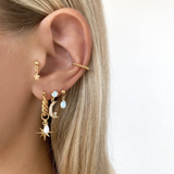 ByNouck - 1.5 Twisted Northstar Opal earrings Gold