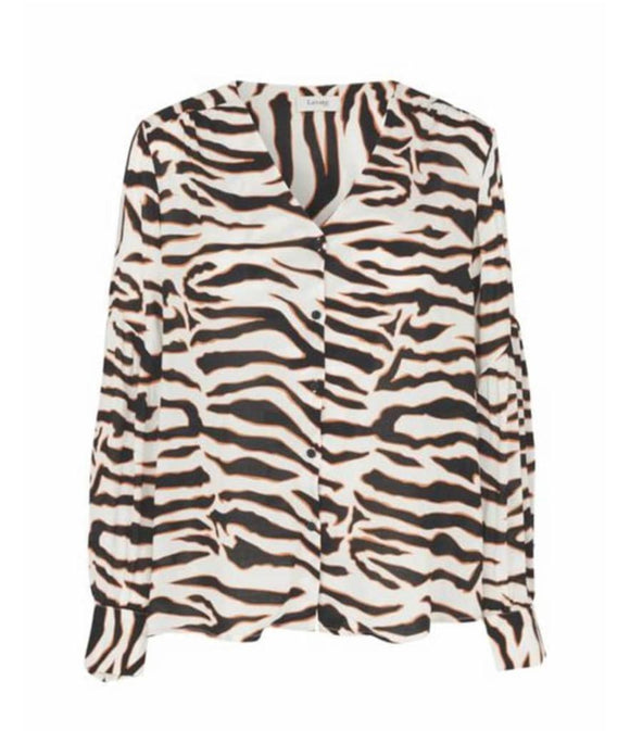 Levete Room Ivy Blouse - Orange Zebra